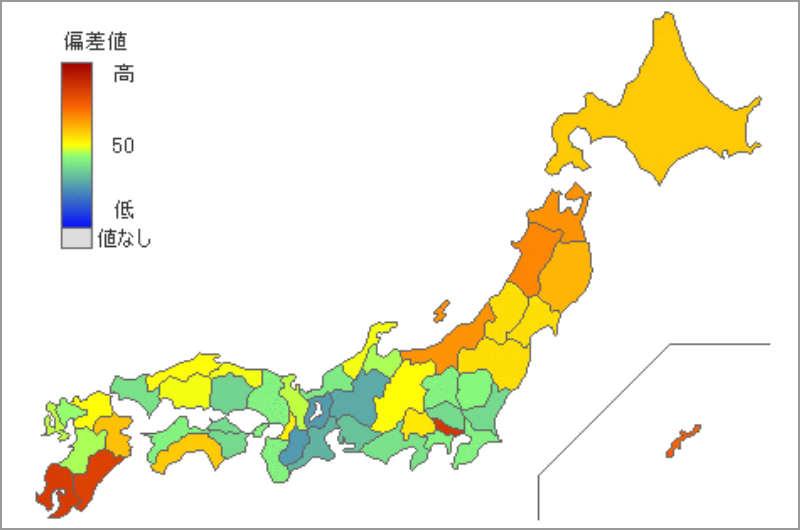 県別のアルコール消費量
